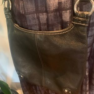 Coach Bags - Coach black leather crossbody handbag